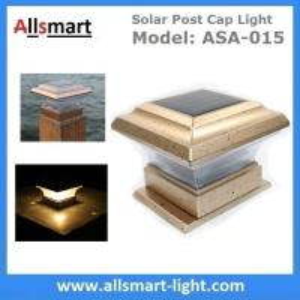 Quality Titan Flat Top LED Post Cap Light for 4'' Post Sleeves Solar Post Cap Light Solar Rail Light Low Voltage Post Caps for sale