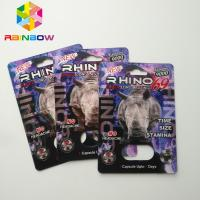 China Rhino 69 / 7 Capsule Sex Pills Blister Card Packaging Matte / Glossy Surface Finish wholesale