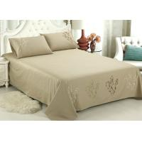 China Lightweight Fabric Luxury Sheet Sets / Duvet Covers Embroidered Cotton Sheets wholesale