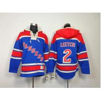 China NHL New York Rangers 2 Brian Leetch Blue Hoodies Jersey wholesale