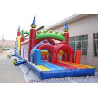 China Funny Sport Games Adult Inflatable Obstacle Course Challenge Bounce House wholesale