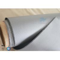 China 510g Waterproof  260℃ Heat Resistant Gray Silicone Coated Fiberglass Fabric 0.45mm on sale