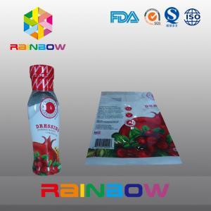 China Printed High Shrinkage PVC / PET Hot Shrinking Labels / Heat Shrinking Sleeve Labels wholesale