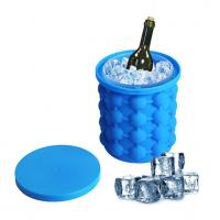 China Huge Silicone Ice Cube Molds Can  Bucke Custom Colors For Cooling Wine wholesale