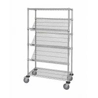 China OEM Commercial Wire Shelving  ,  5 Layer  Steel Slanted Shelving Unit For Company Promotion wholesale