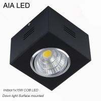 China IP42 black high lm adjustable COB 15W led down light&LED Grille light wholesale