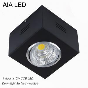 China IP42 black high lm adjustable COB 15W led down light&LED Grille light wholesale