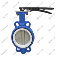 China DN50 Factory Price Wafer Connection 2 Inch-10 Inch Ductile Iron Butterfly Valve for water oil gas on sale