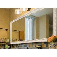 China Wall Mounted Framed Bathroom Mirrors Oak Color With Exquisite Appearance on sale
