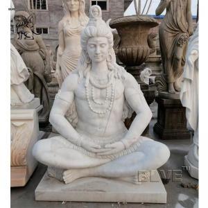 China Lord Shiva Marble Statue Garden Buddha Large Hindu God Religious Stone Carving wholesale
