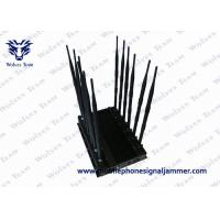 Black Cover Mobile Phone Signal Jammer 6.0kg Weight With 100 - 240V AC Adapter