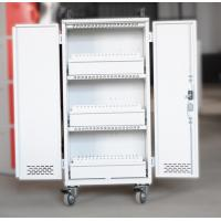 China White Mobile Charging Cart Steel Material 60 Units Laptop Charging Cart wholesale