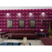 China Luxury Living Room 3D Wall Coverings / Wall Art 3D Wall Panels with Plant Fiber 500*500 mm wholesale