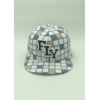 Mens Polyester Floral Sports Snapback Caps Applique Embroidery Outside