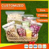 China Customized Packing Ziplock Bags LDPE Poly Bags Food Packaging Clear Grip Seal wholesale