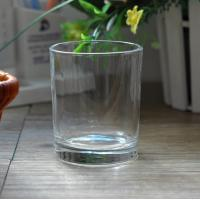 China 7oz Transparent replacement votive glass candle holders Machine Press wholesale