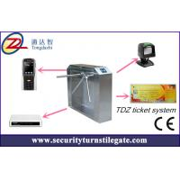 China Tripod turnstile Electronic Ticketing Systems , 1D 2D Bar Code Support wholesale