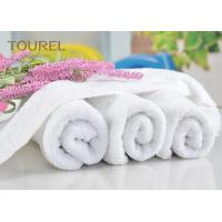 China Luxury 21S/2 Cotton Terry Hotel Hand Towels Plain Design for Gym wholesale