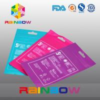 China OPP Header Bags With Adhesive Strip For Tissue /  Printed Cellophane Bags With Logo wholesale