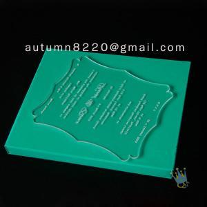 China interesting customized acrylic invitation wholesale