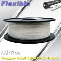 China Red Flexible 3d Printer Filament materials in 3d printing 1.75 / 3.0 mm 0.8KG / Roll wholesale