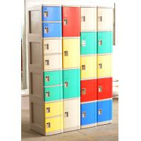 China Cell Phone Lockers With Chargers , 10 Tier Beige / Blue / Red Single Tier Lockers wholesale