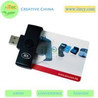 China portable Smart ID card reader ISO7816 PC/SC protocol Java Sim card reader  PC/SC protocol on sale
