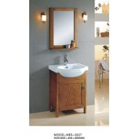 China Soft closing door Solid Wood Bathroom Cabinet witn sink 60 X 45 X 85 / cm wholesale