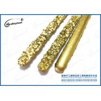 China 100% Raw Tungsten Carbide Welding Rod With Flux And Colored Coated Surface on sale