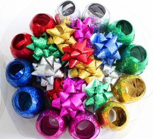China Plastic Ribbon Confetti Star Bow Satin Curling Ribbon Egg For Decoration wholesale