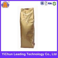 China Coffee packaging customized side gusset  plastic bag with vavle wholesale
