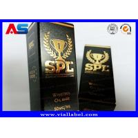 Buy cheap Printed Cardboard Storage 10ml Vial Boxes With Lids Testosterone Gels Gold Foil from wholesalers