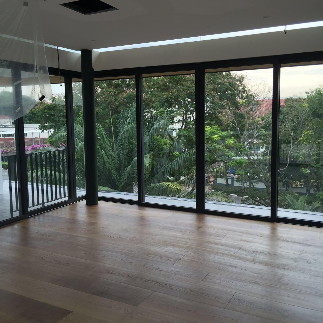 Quality High-end Custom 12'' White Oak Engineered Flooring for Singapore Villa Projects for sale