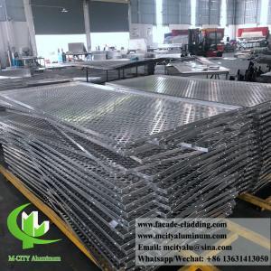 China 3mm Folded Aluminum Perforated Metal Sheet , Perforated Aluminum Screen wholesale