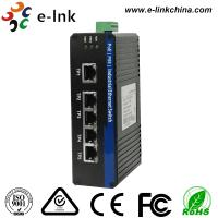 China 5 Fast Port Din Rail Mount Ethernet Switch Unmanaged , Industrial PoE Switch wholesale