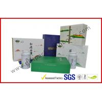 China Offset printed Tea / Moon Cake Gift Packaging Box , Customized 157g Printing Paper Gift Packaging Boxes wholesale