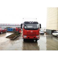 China White / Red Color 6.8m FAW 4X2 Refrigerated Truck With 5800mm Wheelbase on sale