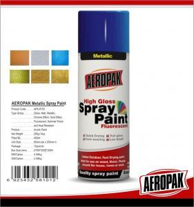 China Fast Dry 400ml Aerosol Spray Paints /  High Coverage Black Spray PaintFor Cars wholesale