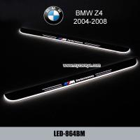 China BMW Z4 Car accessory stainless steel scuff plate door sill plate light LED on sale