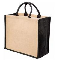 China Hessian Burlap Promotional Shopping Bags , Plain Jute Beach Tote Bag on sale