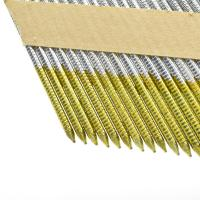 China Collated Framing Nails Flat / Checkered Head Paper Strip Nails For Building Construction wholesale