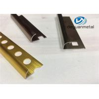 China Different Punched Metal Edging Strip Shiny Golden Aluminium Trim Profile wholesale