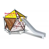 China Commercial Children'S Playrope Play Equipment  By Big Stainless Steel Slide Single Square Type wholesale