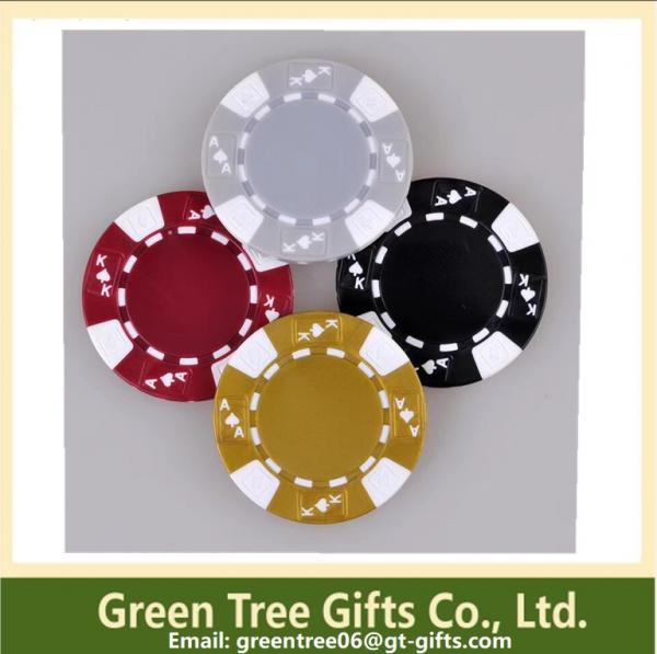 Quality 3-tone Poker Chips,crown poker chip custom aluminium poker chip set casino clay pokerchips for sale