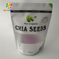 China Round Hole Snack Food Packaging Bags Custom Printing With Zip Lock And Tear Notches wholesale