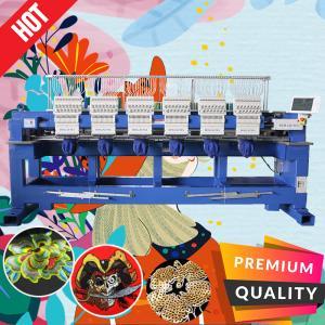 China High quality cheapest 6 head embroidery machine with free embroidery machine parts like tajima embroidery machine price on sale