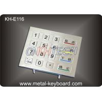 China IP65 Rated Rugged Metal Numeric Keypad , 16 Keys Digital keypad wholesale