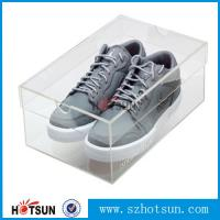 Quality best selling good quality high clear acrylic shoe display box,modern design lucid shoe holder storage clear acrylic shoe for sale