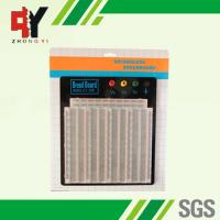 China ABS Plastic Soldering Breadboard Transparent With Black Aluminum Plate wholesale