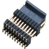 China PCB Board Male 1.27*2.54mm Pin Header Connector Dual Row Double Plastic SMT  PA9T  Brass H=2.54 wholesale